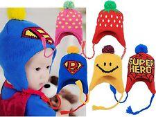 Boys Girls Winter Crochet Hat Beanie superbaby spiderman strawberry *6mos-3 yrs*