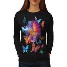 Mariposa Colorido Animal para mujeres de manga larga T-shirt new   wellcoda