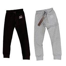 Pantalone tuta da bambino bambina grigio nero AngelDevil palestra sport casual
