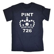 Pinta 726 Para hombres Camiseta Camiseta Moda Regalo de Cumpleaños Divertido Cerveza alcohal más grande