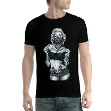 Marilyn Monroe Tattoo Hot Body Men T-shirt XS-5XL