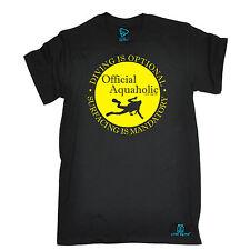 Immersione aquaholic è facoltativo T-shirt Sub Immersione Gear Compleanno Regalo Moda