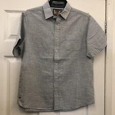 Men's BNWT Tokyo Laundry Short Sleeved Shirts ANTWERP style S-L Grey