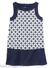 NWT Gymboree Parisian Afternoon Dots Ponte Shift Dress 5 6 7 8 10 Girl July 4th