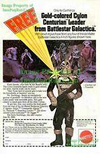 Battlestar Galactica: Gold Cylon Mattel Photo Print Ad!