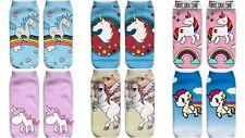 Multi Style Girls Women's Unicorn Cute Socks One Sided 3D Print New Free Track