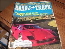 Road & Track Magazine Oct 1987 the F40 Enzo Ferrari