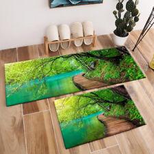 Sunshine Deep Forest Stream Landscape Area Rugs Bedroom Carpet Kitchen Floor Mat
