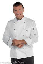 giacca cuoco chef nera mix cotone super leggera doppio petto