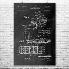 Bombardier Snow Mobile Poster Patent Art Print Gift Snow Mobile Wall Art Ski-doo