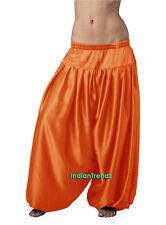 Orange Satin Harem Yoga Pant Belly Dance Pantaloons Bombachos Aladdin Halloween