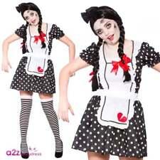 Womens Zombie Broken Doll Ladies Halloween Horror Fancy Dress Costume Outfit