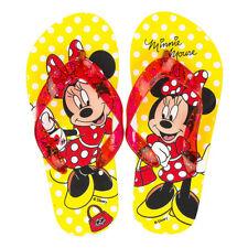 Disney Minnie Mouse Mädchen Badelatschen Badeschuhe Zehentrenner Neu