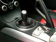 Se adapta a Mazda Rx8 Negro Cuero Gear polaina de arranque cambio Roja St