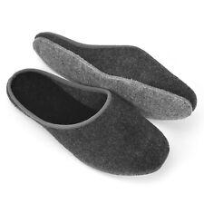 Filz Pantoffel Herren Damen Filzlatschen Hausschuhe grau/anthrazit Gr. 36-51 NEU