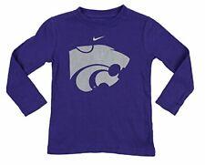 Nike NCAA Kids Kansas State Wildcats Distressed Thermal Long Sleeve Shirt