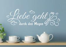 Wandaufkleber: Liebe geht... - Küche Esszimmer Essen Deko Wandspruch WandTattoo
