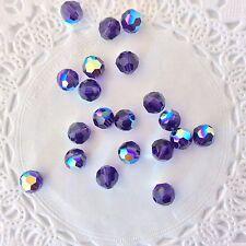 Swarovski® Crystal 6mm Round AB Colors/Coats-Series #5000 - 6 PC PK Choose color