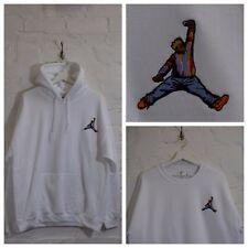 Actual Fact Biggie x Jordan Hip Hop White Hooded Sweatshirt Hoodie