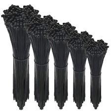 Kabelbinder Set Sortiment Schwarz 100 150 200 300 400 mm x 2,5 3,6 4,8 7,6 mm