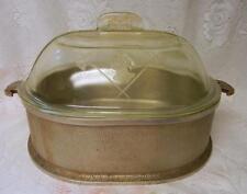 "Guardian Service Cookware 12"" x 10"" Oval Turkey Chicken Ham Roaster & Glass Lid"