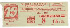Orig.Ticket     Eishockey WM ÖSTERREICH 1987     DEUTSCHLAND - USA  !!   TOP