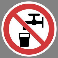 kein Trinkwasser Aufkleber Sticker Schild Hinweis Verbotsschild