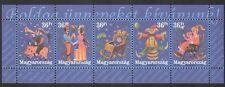 Hungary 2001 Greetings/Clown/Pig/Woman/Dancing/Music/Animation 5v stp (n34511)