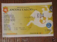 ANCONA SAMPDORIA BIGLIETTO TICKET 2002/03 CALCIO