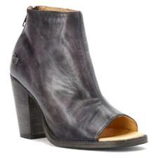 Bed Stu Onset Womens Black Driftwood Heels