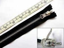 """Zip, Zipper, Reversible, Flip Over,Open End,Metal YKK,Black, 24""""/60cm, 30""""/ 76cm"""