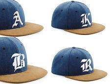 Men Women New Snap back Cap Suede Peak Hat Gothic 3D A-Z LA Snap back Baseball