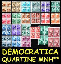 ITALIA ITALY 1945-46 Serie Democratica in quartine MNH ** valori a scelta