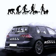 Autocollant pour voiture sticker film de voiture sticker Evolution chien caniche