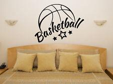 Basketball logo slogan citation sports wall art decal autocollant photo décorer