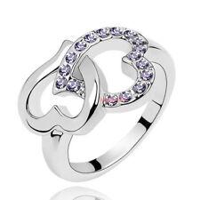 Anello Donna Cristallo Swarovski elements cuore violette N13