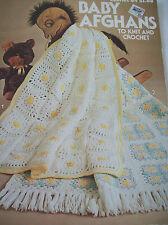 Leisure Arts Baby Afghans Pattern Leaflet Knit Crochet 4 Designs Granny Ripple