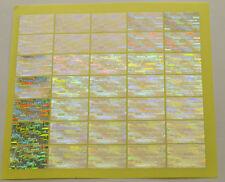 3D Hologramm Siegel Aufkleber Garantiesiegel Antifake 30 mm Sticker lfd Nummer