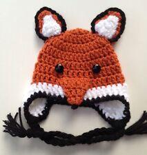 Crochet Fox Baby Hat infant toddler child adult cap beanie photo prop Usa