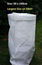 WOVEN LARGE POLYPROPYLENE BAGS / RUBBLE SACKS GARDEN SKIP SIZE 99 X 199CM