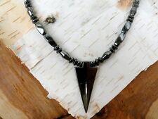 Magnetic Arrow Pendant Men's Women's Healing Necklace Bi cone Disc Twist