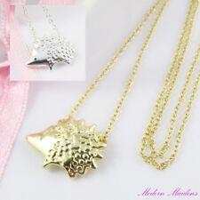 Cute Little Hedgehog Charm Pendant Necklace 48cm Select Gold or Silver