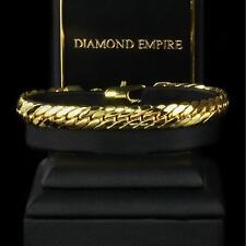 Armband Panzerkette 18,5 cm Echt 750er Gold 18K vergoldet Damen Herren B1444S