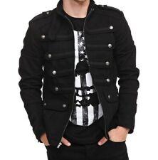 Gothic Military Band Black Jacket for Men Vintage Goth Coat Jacket Steampunk