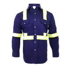 Flame Resistant FR High Visibility Hi Vis 100%C Light Weight Shirt