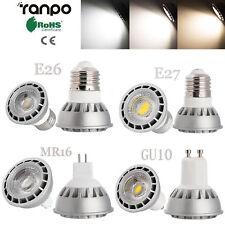 Dimmable LED Bulb Spotlight 15W E26 E27 GU10 MR16 COB Light Lamp Ultra Bright