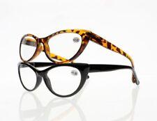 Black Tortoise Slim Cat Eye Spring Hinges Reading Glasses +1.00 ~ +4.00 Readers