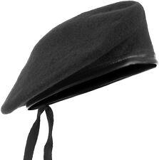 Armée style tactique beret militaire classique unisexe chapeau homme patrouille cap laine noir