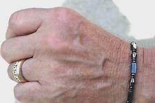 Mens Womens Single 100% Magnetic Diamond Shaped Hematite Bracelet Anklet 1 Row