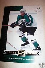 "PINNACLE ZENITH TEEMU SELANNE TRADING CARD 7"" x 5"" Z6 1998"
